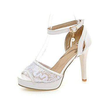 LvYuan Mujer-Tacón Stiletto-Confort Innovador-Sandalias-Fiesta y Noche Vestido Informal-Materiales Personalizados-Negro Rosa Blanco Black