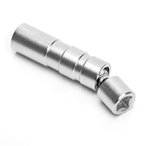 Coolrunner 16mm Magnetic Thin Wall Universal Joint Swivel Spark Plug Socket Removal Tool 12-Point 95mm Length, 3/8-Inch Square Drive, CR-V Steel