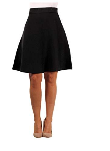 Sag Harbor Women Swing Skirt (M) - Skirt Harbor Sag Black