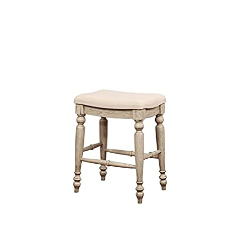 Amazoncom Riverbay Furniture 25 Backless Counter Stool In White