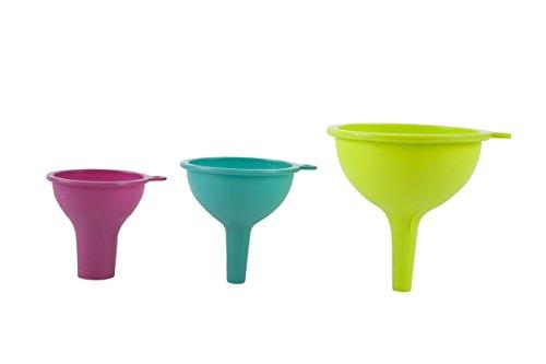 (Core Kitchen Essential Silicone 3 Piece Funnel Set )