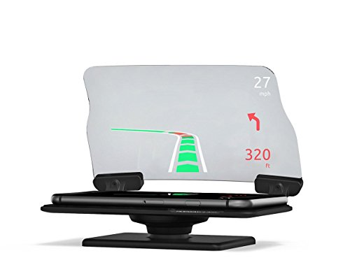 HUDWAY Glass V2.0 - Universal Head-Up Display (HUD) for any car. FREE apps included.