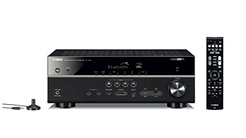 Yamaha RX-V485BL 5.1-Channel 4K Ultra HD AV Receiver with MusicCast - Black (Best Yamaha Home Theater Receiver)