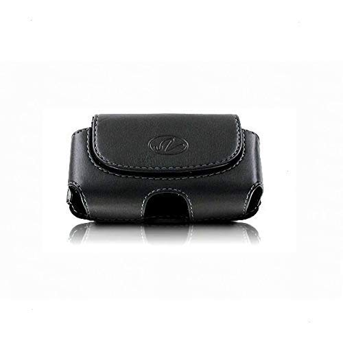 Wonderfly Horizontal Holster for Flip Phone or Smartphone Up to 4.25×2.25×0.85 Inch in Dimensions, a Leather Carrying…