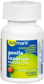 Sunmark Gentle Laxative Comfort Coated Tablets - 100 ct