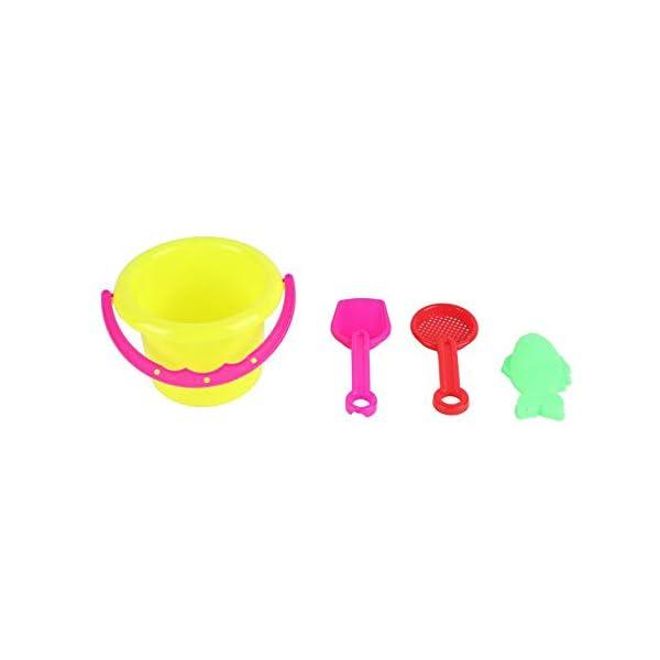 CamKpell 4pcs novità Mini Beach Toys Set Secchiello di Sabbia Secchio con Pala Rake Summer Pool Spiaggia di Sabbia Gioca… 2 spesavip