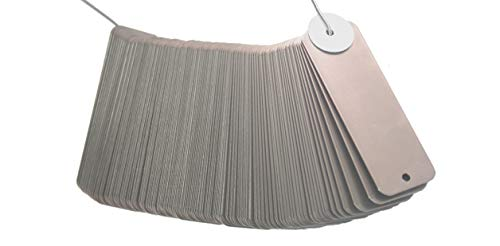 Blank Stainless Steel Rectangular Tags. (Sets of 100) 3 Sizes to Choose from: 1