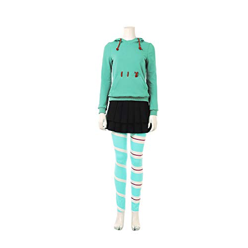 Vanellope Von Schweetz Costume Deluxe Halloween Cosplay Clothing Full Set Female XS]()