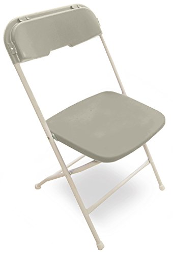 McCourt 41200 Series 5 Dining Height Stackable Folding Chair, Classic White Frame, Single, Gray (41200 Series)