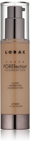 LORAC Sheer Porefection Foundation, Medium Beige, 3.5 oz.