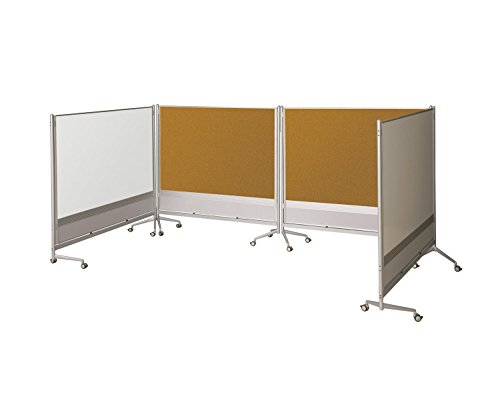 Balt Mobile Double Sided Porcelain Steel Markerboard Natural Cork DOC Room Divider Partition 6'H x 4'W electronic consumers