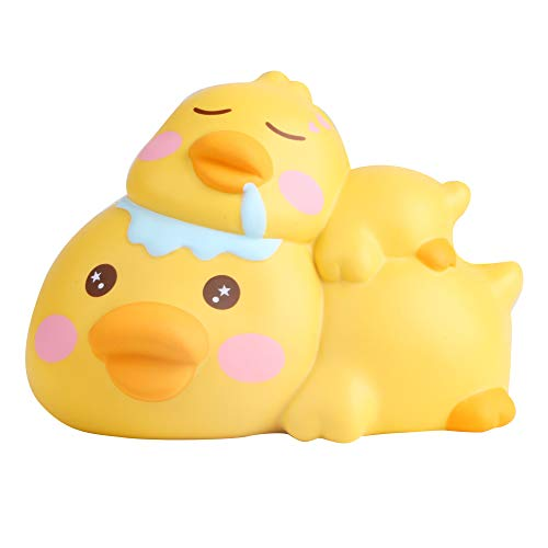 LaooDa New Year Yellow Duck Squishy Animal Slow Rising Squeeze Stress Reliever Toy Party Fun Gift for Kid -