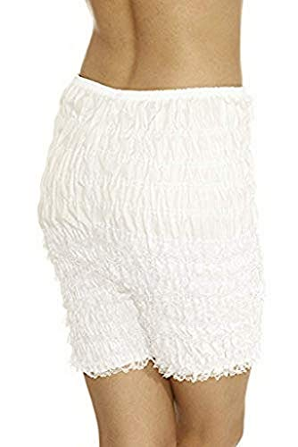 Malco Modes Womens Ruffle Panties Bloomers Dance Bloomers for Sissy Victorian (X-Large, (White Ruffled Bloomers)