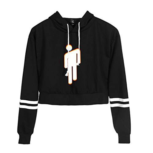 (Tyjie Drawstring Hoodies Women Striped Long Sleeves Hip Hop Girls Rapper Spider Printing Trendy Crop Top Loose Sweatshirt Gifts)