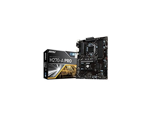 MSI H270-A PRO Mining Motherboard Crytocurrency BTC Intel H270/ ATX Motherboardwith 6 PCIe Slots and M.2 (Pci Pentium Cpu)