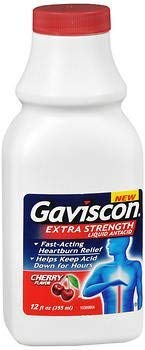 Gaviscon Liquid - Gaviscon Liquid Antacid Extra Strength Cherry Flavor - 12 oz, Pack of 6