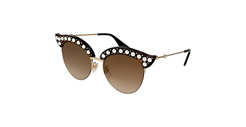 Gucci Brown Gradient Cat Eye with Pearls Sunglasses GG0212S 002 - Pearl Cat Eye