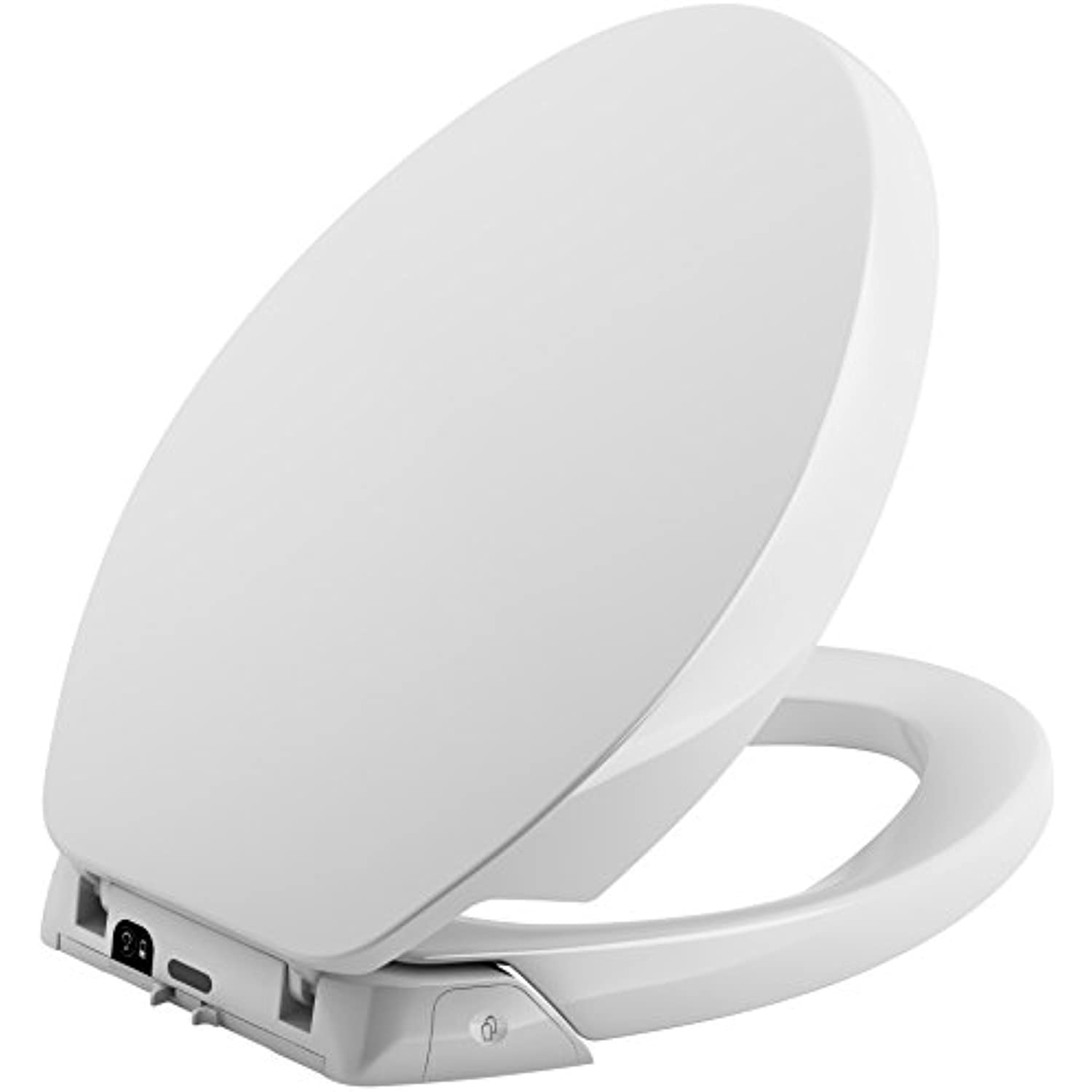 KOHLER K-5588-0 Purefresh Quiet-Close with Grip-Tight Bumpers Elongated Toilet Seat, White,2.50 x 14.10 x 19.17 inches