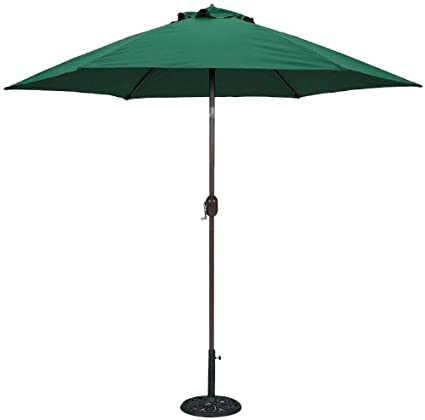 Tropishade 9 Ft Bronze Aluminum Patio Umbrella With Green Polyester Cover