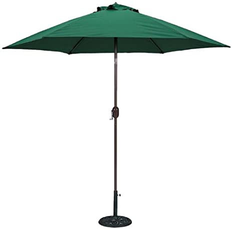 Nice TropiShade 9 Ft Bronze Aluminum Patio Umbrella With Green Polyester Cover