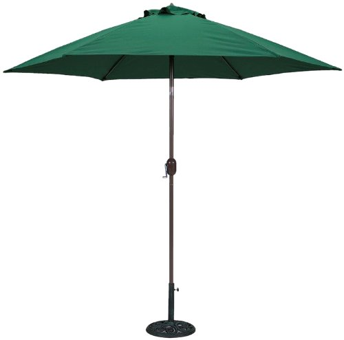 TropiShade 9-Feet Bronze Aluminum Polyester Market Umbrella with Green Polyester Cover ()