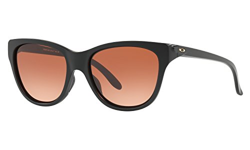 Oakley Women's Hold Out Sunglasses Matte Black with VR50 Brown Gradient Lens + - Sunglasses Girls Oakley