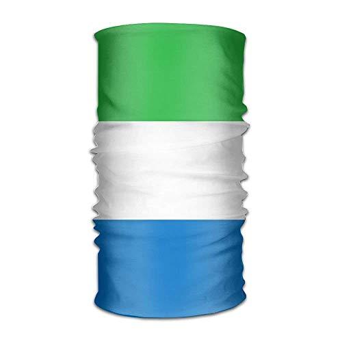 - XicoLtd Flag of Sierra Leone Unisex Outdoor Sport Scarf Headbands Bandana Mask Neck Gaiter Head Wrap Sweatband Headwear