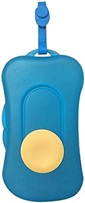 Portátil para toallitas húmedas de viaje para cosméticos dispensador de toallitas caja de toallitas húmedas para bebé Kid azul azul