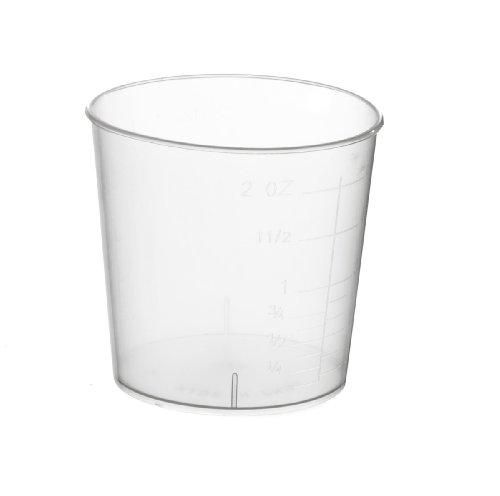 Medline Sterile Graduated Plastic Medicine Cups - 2 Ounces, Case of 100
