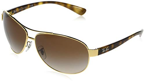 Ray-Ban RB 3386-001/13 Arista Metal-Frame Sunglasses With Brown Gradient Lens.
