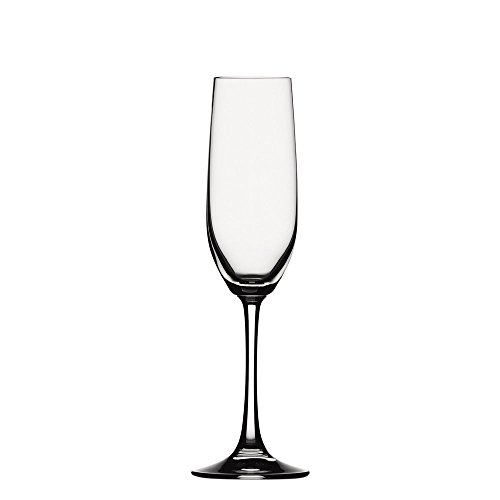 Spiegelau - Vino Grande Champagne Flute - Sparkling Wine Glasses 6 2/7 oz. Set of 4 ()