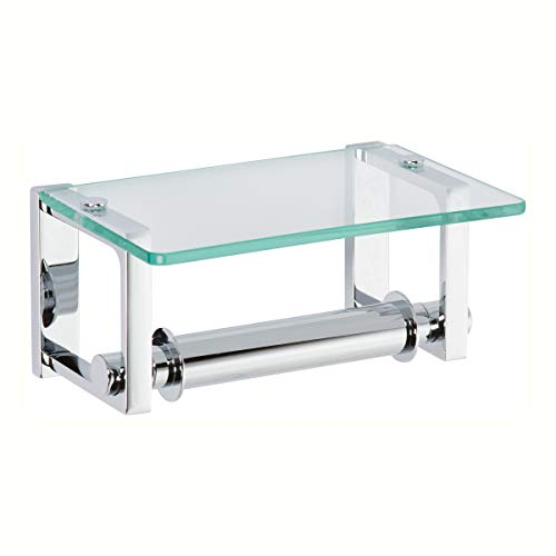 Ginger 3027/PC Frame TP Holder w/Glass Shelf, Polished Chrome, Toilet - Toilet Glass Holder Chrome Paper