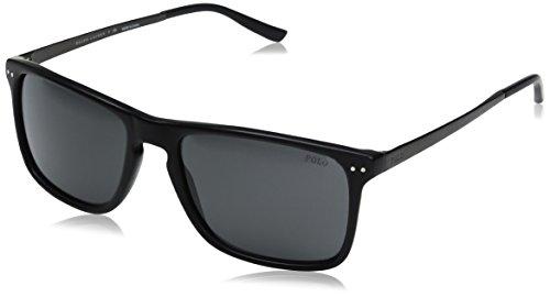 Polo Ralph Lauren Men's Acetate Man Rectangular Sunglasses, Vintage Black, 56 - Polo Fake Sport