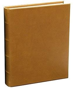 Traditional Coach-Tan Leather Medium Bound scrapbook-style album by Graphic Image - 9x12 by Graphic Image