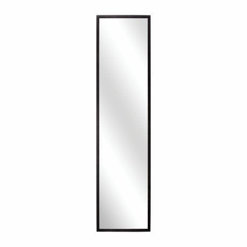 SL Decor Door Mirror 14 x 48- Inch,Over-the-Door Hardware Included.Black Wall Mounted Dressing Mirorr