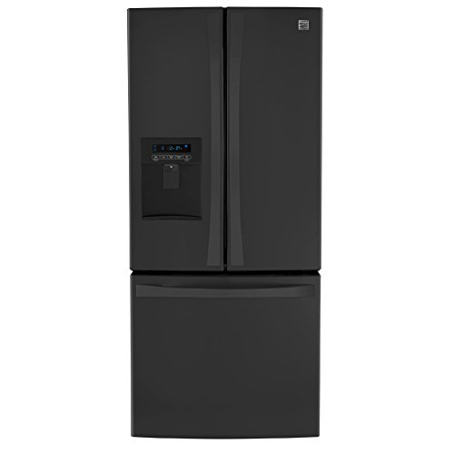 Kenmore 4671329 Wide French Door Bottom Freezer Refrigerator with Dispenser, 21.8 cu. ft, Black