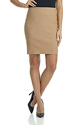 Rekucci Women's Ease In To Comfort Stretchable Above The Knee Pencil Skirt 19""