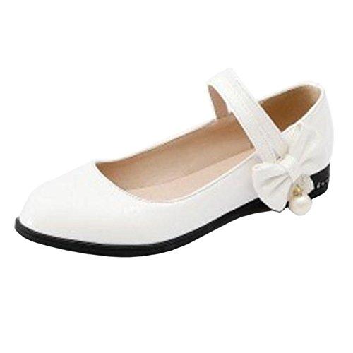 Chicas White Mujer RAZAMAZA con Para Velcro Zapatos xnqXBY