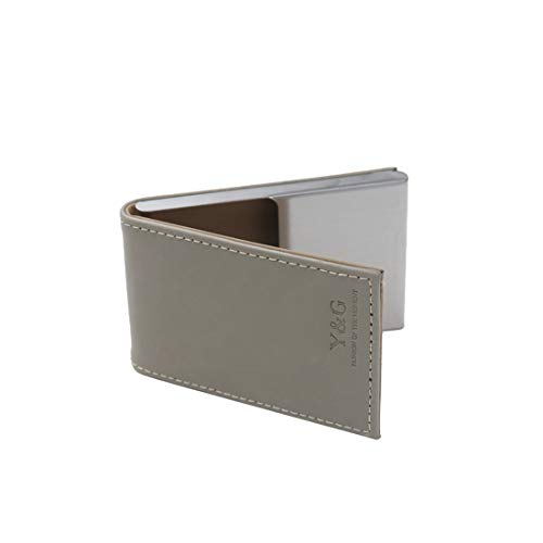 Y&G C.A.U.F.047 Synthetic Leather Stainless Steel Independence Day ID Card Holder -