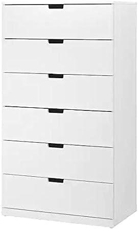 Cassettiera Con 6 Cassetti.Ikea Nordli Cassettiera Con 6 Cassetti Bianco 80x145 Cm Amazon