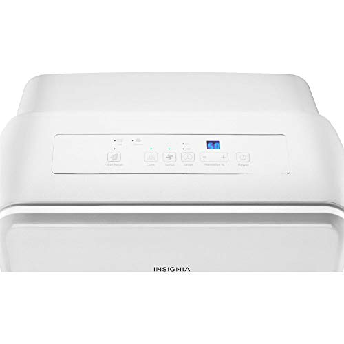 Insignia NS-DH50WH9 50-Pint Portable Dehumidifier with Rolling Caster Wheels, White (Certified Refurbished)