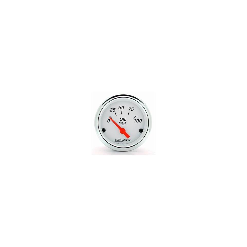 Auto Meter 1327 Arctic White 2 1/16 0 100 PSI Electric Oil Pressure Gauge