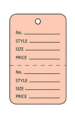 """Large Unstrung Pink Perforated Coupon Price Tags - 1¾"""" W x 2⅞""""H (Pack of 1,000)"""