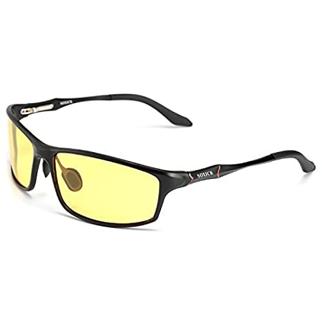 c96de748be oushilan Soxick HD Polarized Night Driving Vision Black Frame Glasses Anti  Glare with Protection Lasses Flexible Frame  Amazon.in  Home   Kitchen