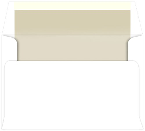 A9 Pearlescent Pearl Single Lined Envelopes, Radiant White, 25 Pack
