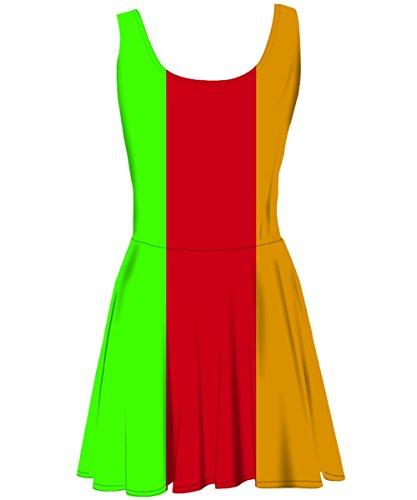 Snoogg - Robe - Cocktail - Sans Manche - Femme Multicolore Bigarré