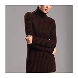 Winter Sweater Women High Collar 100 Pure Cashmere Sweater Female Thick Sweater 2018 Bottoming Warm Pullover Ksr222 Coffee M