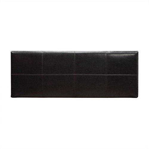 - Modus Furniture 7G08F5BHS Ledge Upholstered Square Headboard, Queen, Chocolate