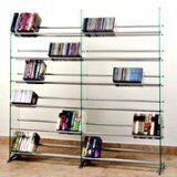 imedia CD/DVD Rack for 792 CD 552 DVD, Clear ()