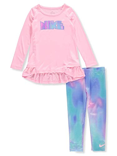 Nike Girls' Dri-Fit 2-Piece Outfit - Violet, 3t (Nike Girls Clothing)